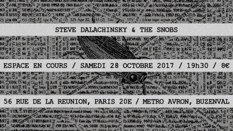 Steve Dalachinsky et The Snobs - En Cours 28-10-2017-3